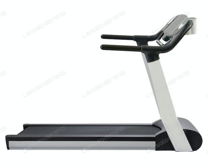 Treadmill isolated on white