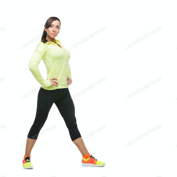 Girl in sportwear