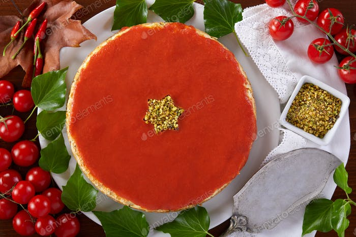 Christmas Savory Cheesecake