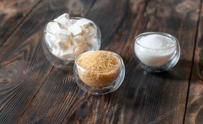 Sortiment von Zucker