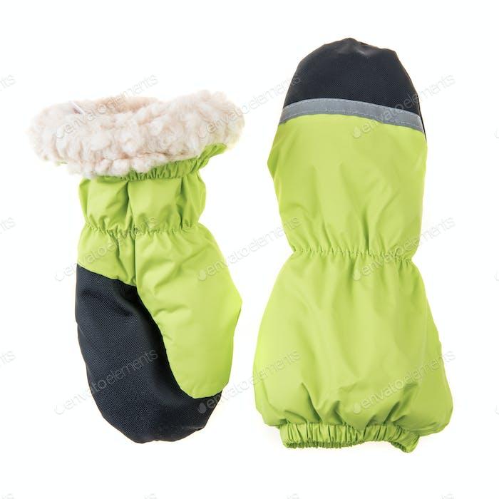Children's autumn-winter mittens
