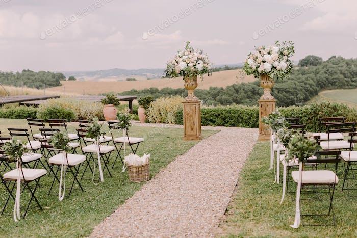 schicke Hochzeitslocation in der Toskana Italien
