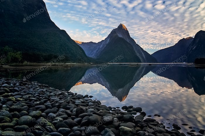 Sunrise At Milford Sound