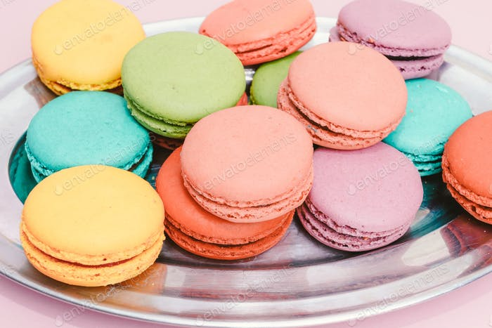 colorful almond cookies