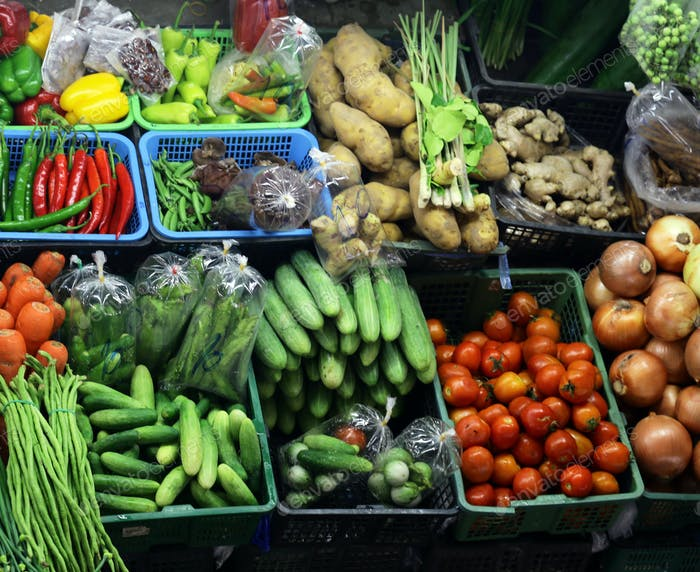 Various Organic Vegetables