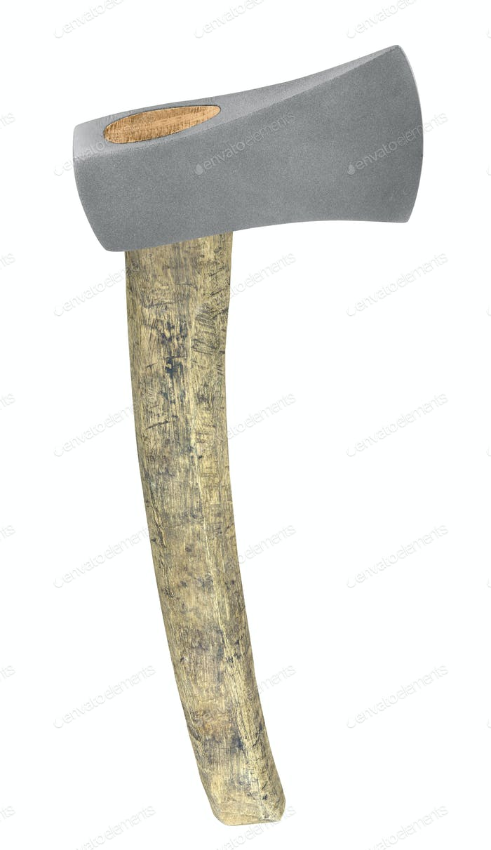 old axe isolated on white