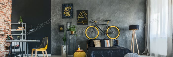 Hipster studio apartment