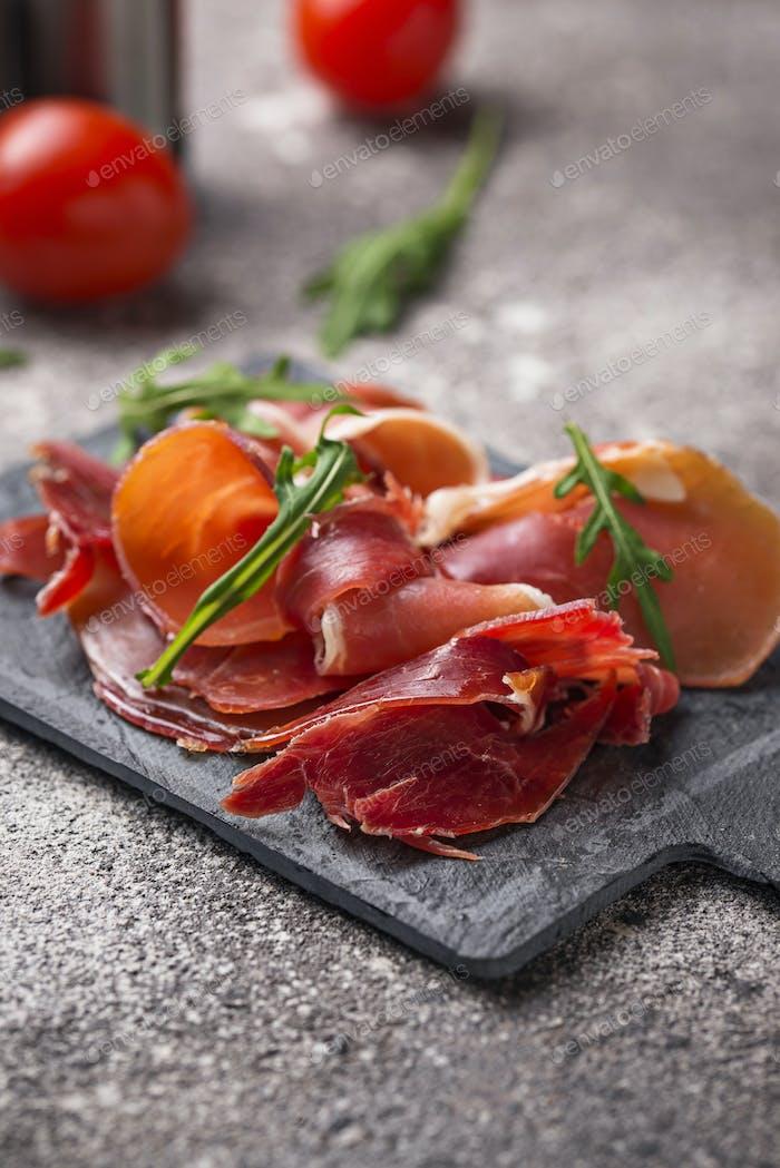 Traditionelles spanisches Wurstfleisch Jamon
