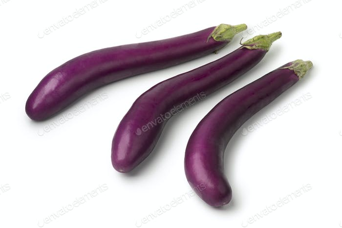 Fresh raw purple eggplants
