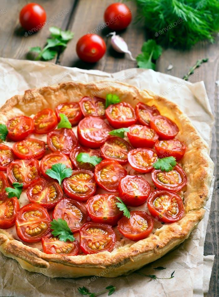 Tomatoes and cheese tart