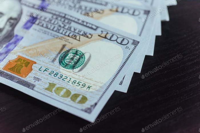 American Dollars. One Hundred Dollar Banknotes, 100