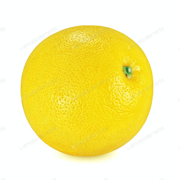 Thumbnail for Yellow grapefruit isolated on white background