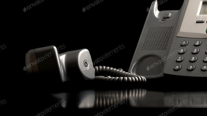 Telephone handset off the hook