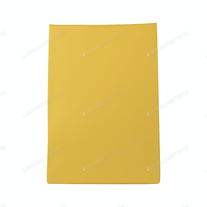 Yellow bag isolated