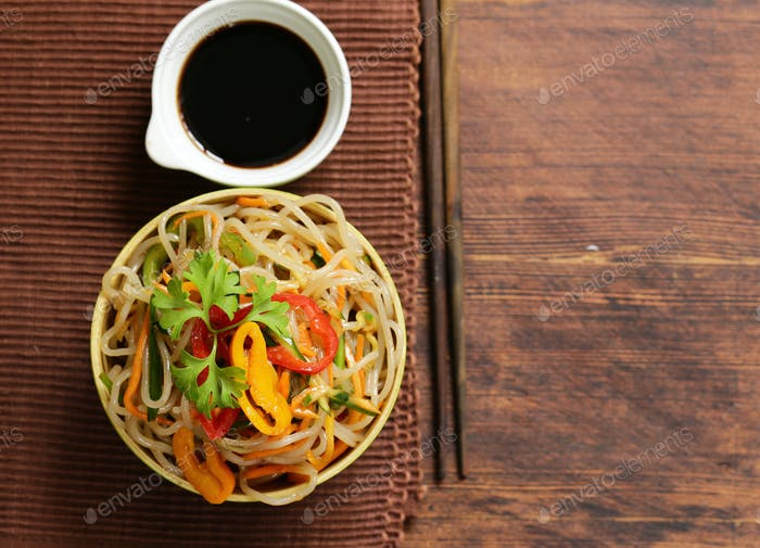 Asian Salad of Rice Noodles