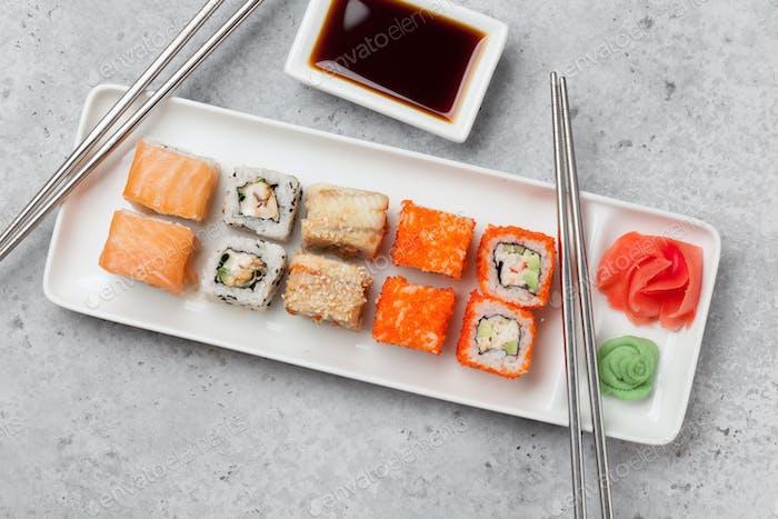 Japanese sushi set