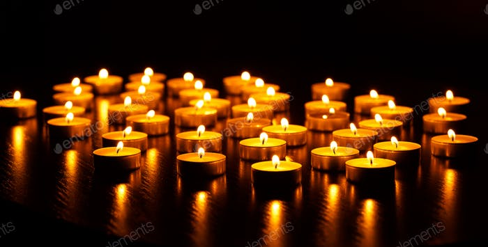 Thumbnail for Burning candles with shallow depth of field