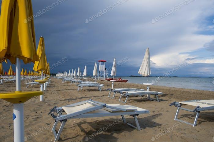 Cloudy sky at the beach