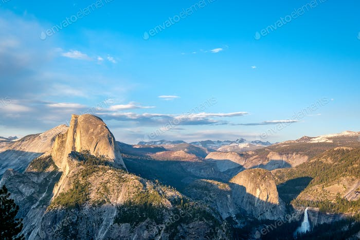 Yosemite National Park Valley summer landscape, Glacier Point