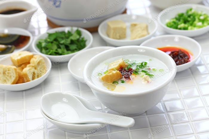 congee, chinese rice porridge