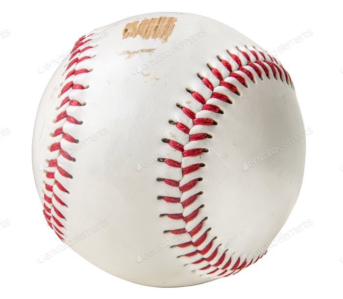 Grungy Isolated Baseball