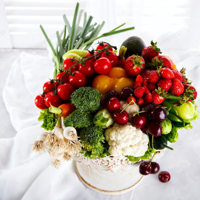 Mix Fruits and Vegetables,