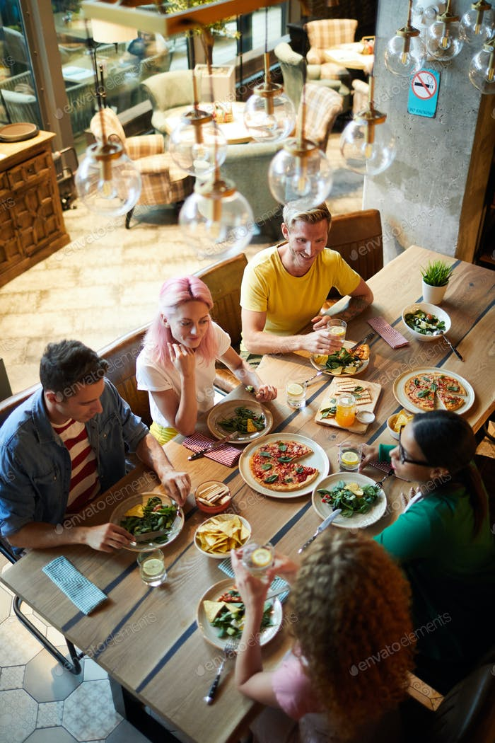 Dining in restaurant
