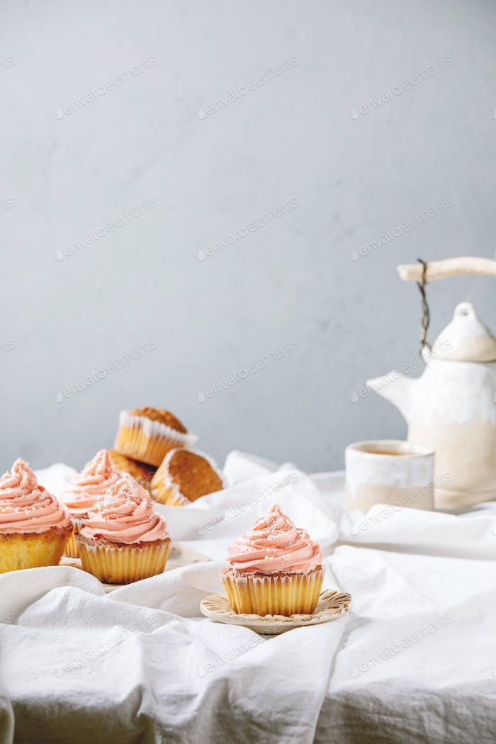 Homemade cupcake with buttercream
