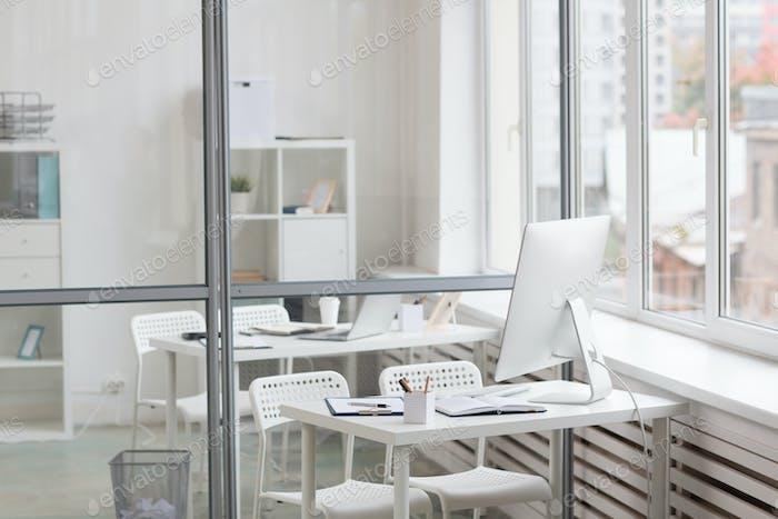 Workplace by window