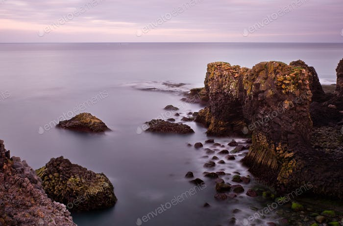 Rocky Coastline Long Exposure, Iceland