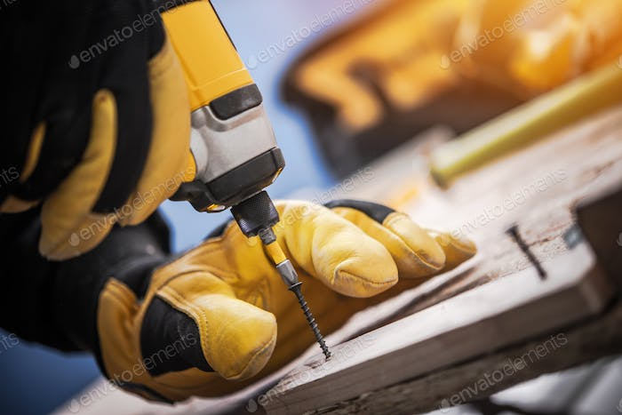 Wood and Drill Driver Work