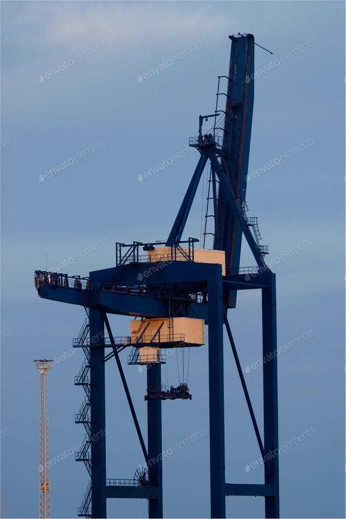 Crane in the port