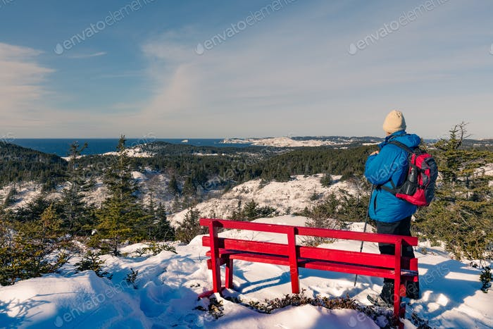 Winter Hiking on Twillingate Island NL Canada