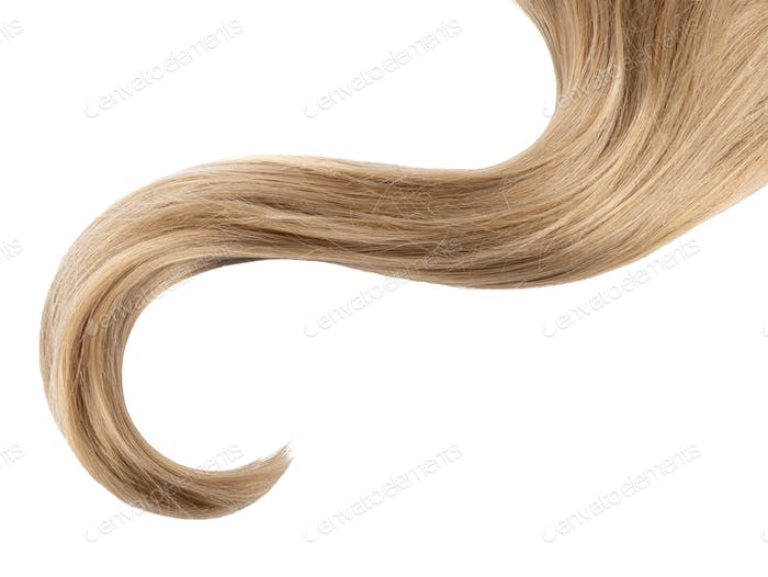 Curl hair isolated on white