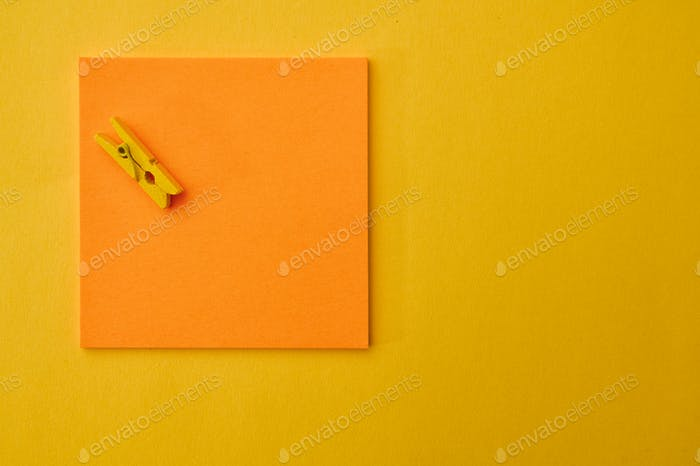 Office stationery supplies, notepad and clip