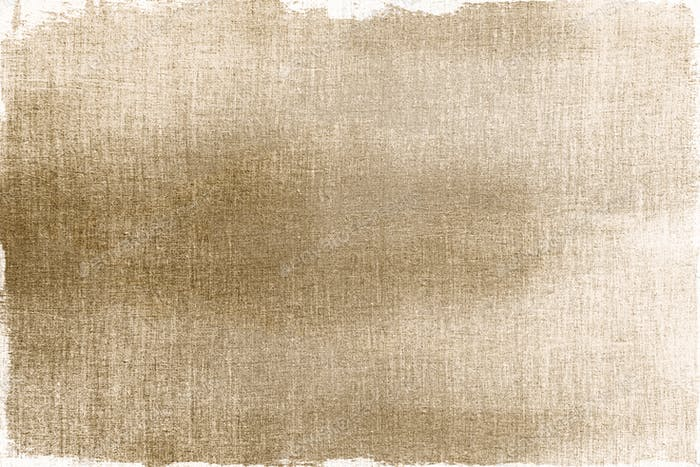 Gold painted on a fabric textured background