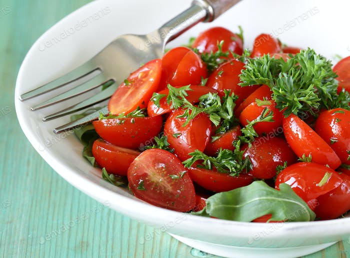 Salad Of Small Cherry Tomatoes