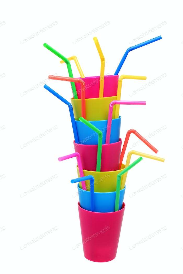 Plastic Cups and Straws