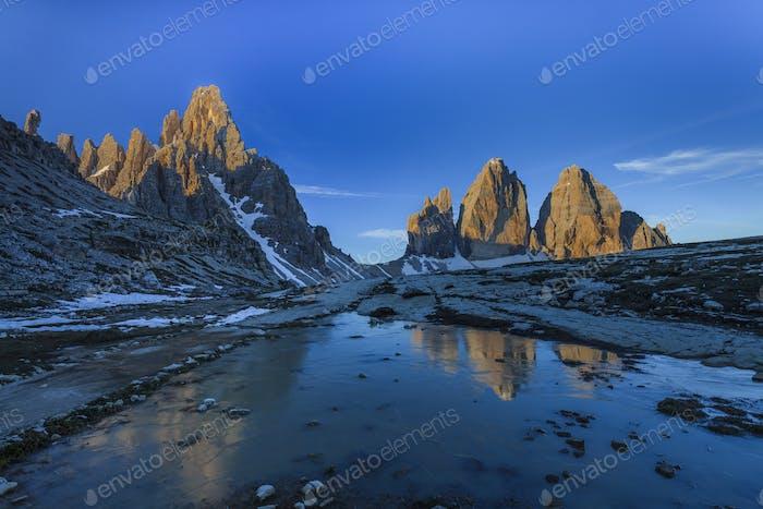 Tre cime di Lavaredo. Dolomite Alps, Italy