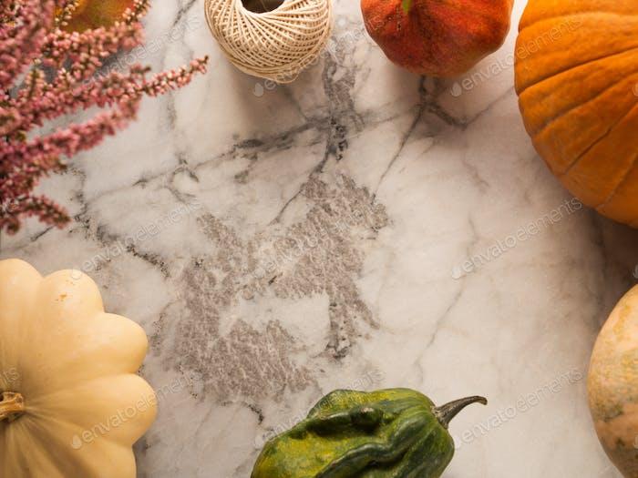 Herbsternte Rahmenhintergrund