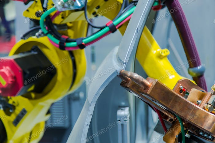 industrial welding robots for automotive assembly line