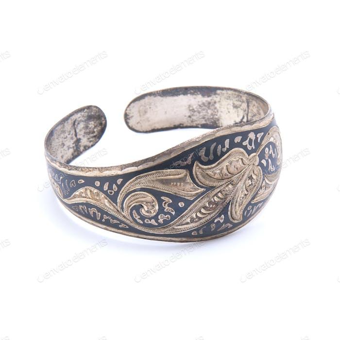 Old Indian silver bracelet.