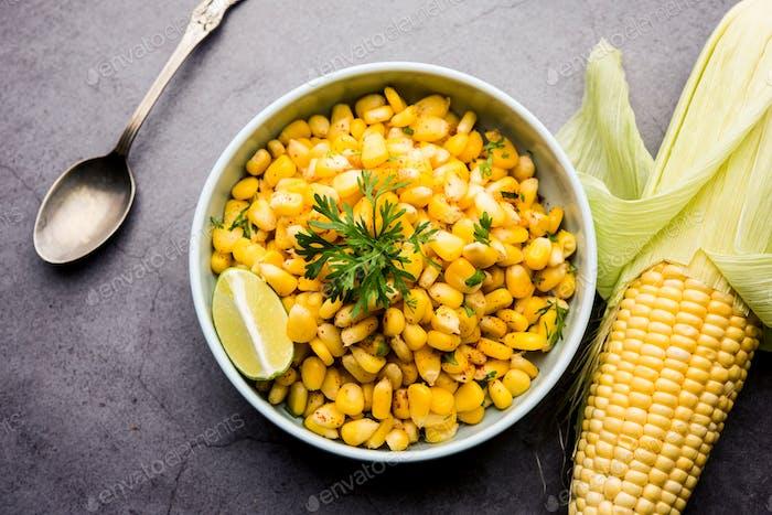 Spicy Masala Corn Chat