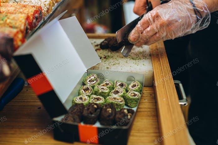 Turkish sweets in the Egyptian bazaar. Istanbul
