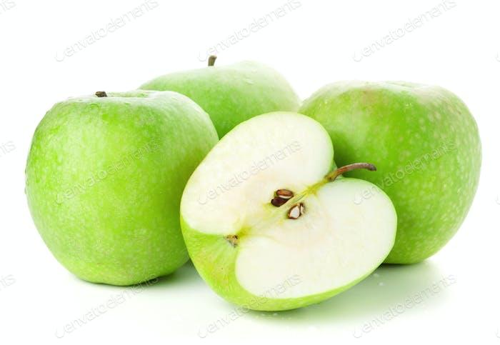 Dreieinhalb reife Äpfel