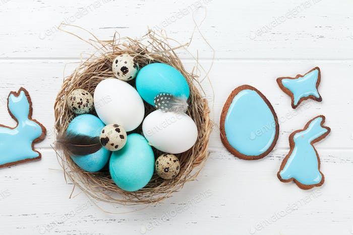 Easter eggs and cookies