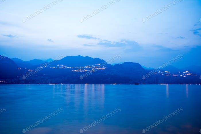 Blue hour at Lake Garda