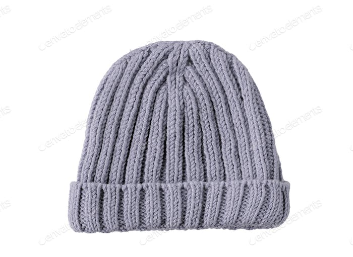 grey woolen winter hat