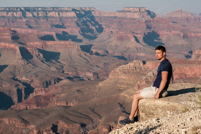 Tourist at Grand Canyon