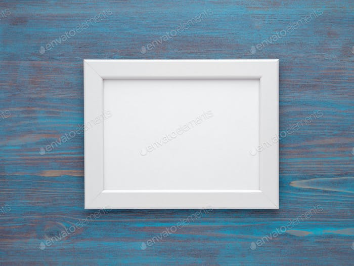 mocap frames for photo on wooden blue background